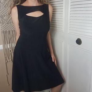 Joseph Ribkoff black sleeveless ribbed dress 8